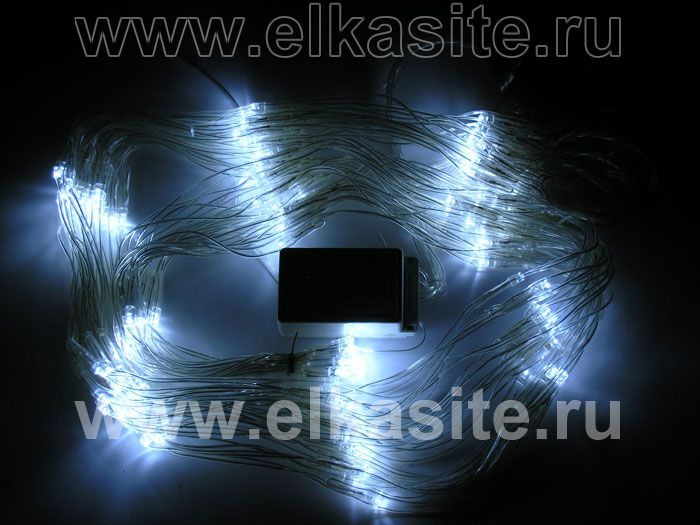 Image: Электрогирлянда сетка 1.5х1.5м. 160 белых диодов - WL Net 160Led-WH